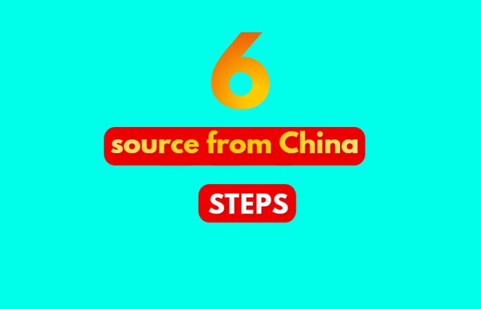 Proof 6 steps to source from China easy