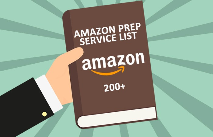 200+ List of Third-party Amazon Prep Service Complete