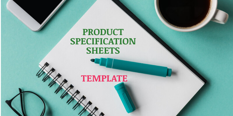 product specification sheets template