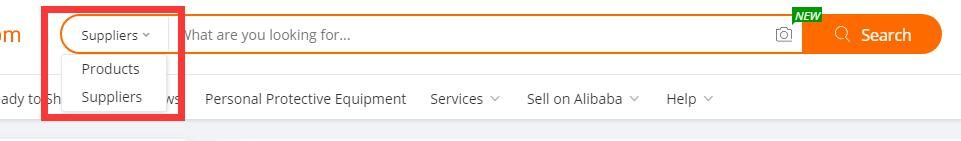 how to search alibaba supplier